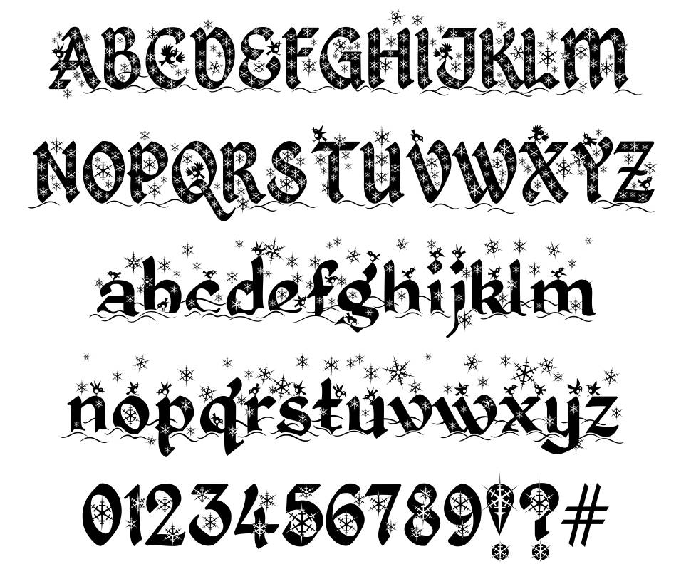 Kingthings Christmas  font