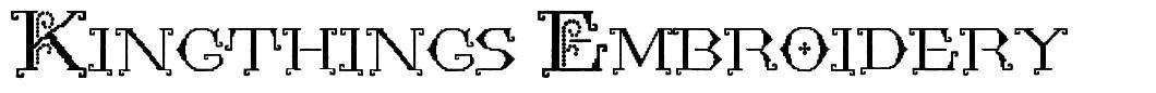 Kingthings Embroidery 字形