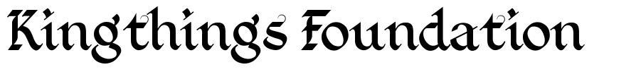 Kingthings Foundation font
