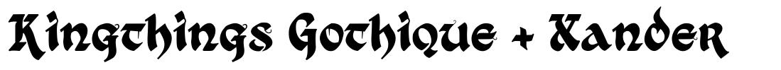 Kingthings Gothique + Xander font