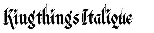 Kingthings Italique 字形