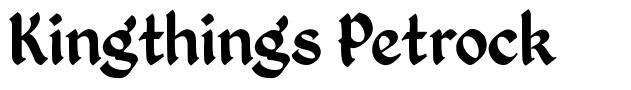 Kingthings Petrock 字形
