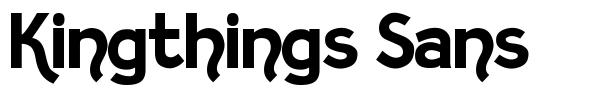 Kingthings Sans font