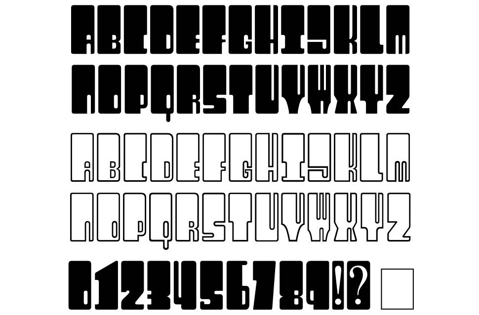Kingthings Wrecktangle font