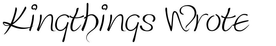 Kingthings Wrote 字形