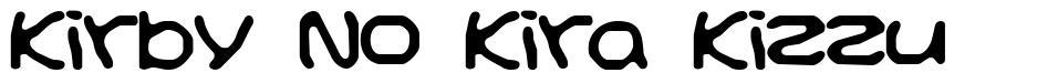 Kirby No Kira Kizzu písmo
