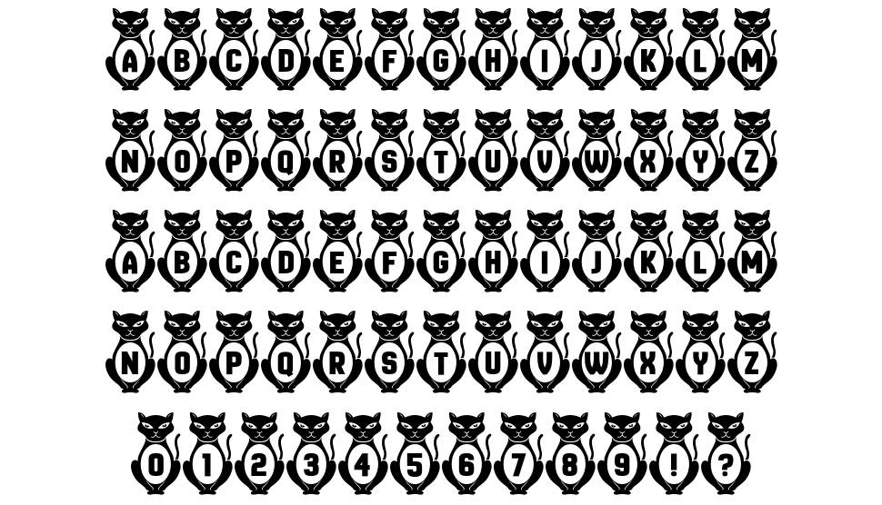 Kitties font