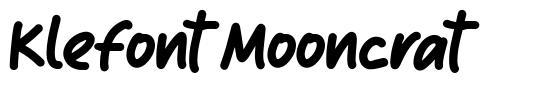 Klefont Mooncrat schriftart