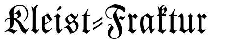 Kleist-Fraktur font