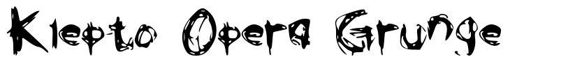 Klepto Opera Grunge font