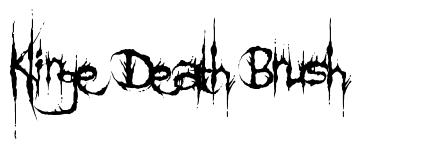Klinge Death Brush font