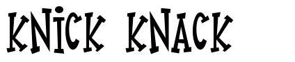 Knick Knack písmo