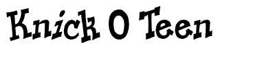 Knick O Teen font