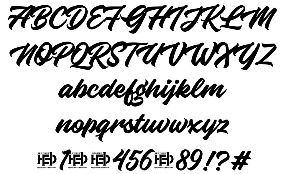 Knight Brush 字形