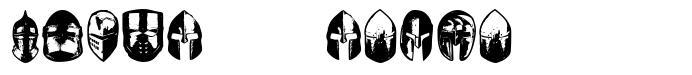 Knights Helmets font