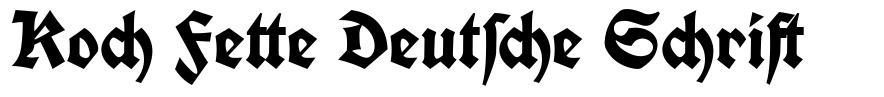 Koch Fette Deutsche Schrift 字形
