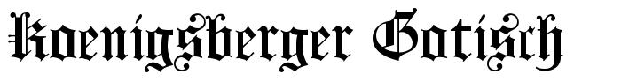 Koenigsberger Gotisch font