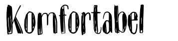 Komfortabel font
