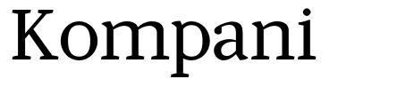 Kompani font