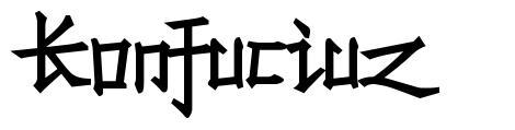 Konfuciuz písmo