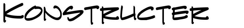 Konstructer font