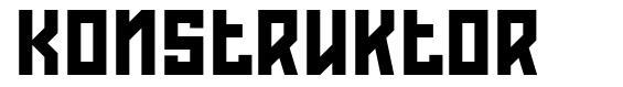 Konstruktor フォント
