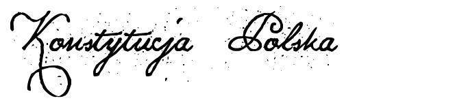 Konstytucja Polska font
