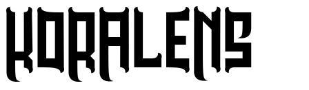 Koralens font