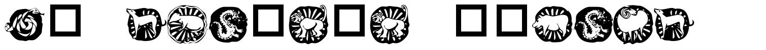 KR Chinese Zodiac font
