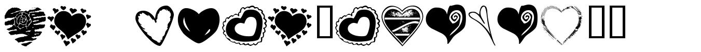 KR Heartalicious font
