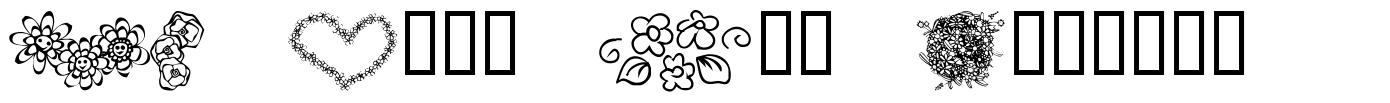 KR Just The Flowers font