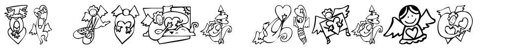 KR Love Angels font