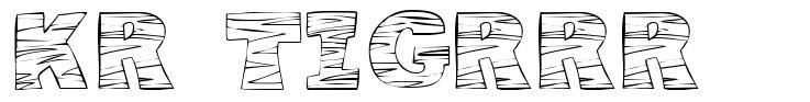 KR Tigrrr font