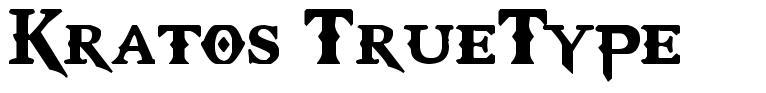 Kratos TrueType font