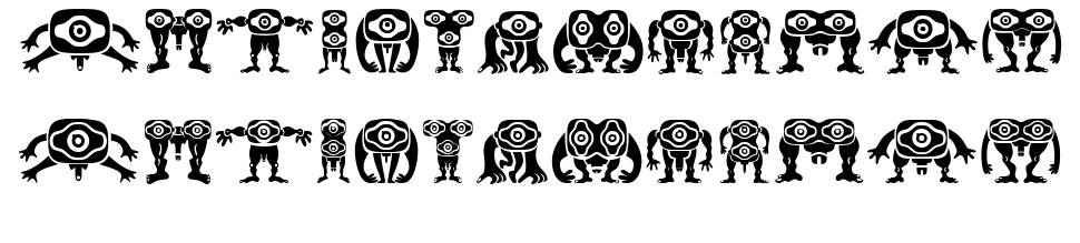 Kreaturen 字形