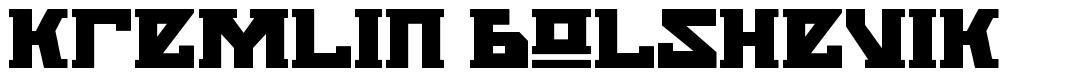 Kremlin Bolshevik font