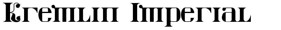 Kremlin Imperial font