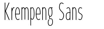 Krempeng Sans