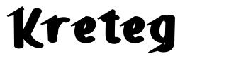 Kreteg font