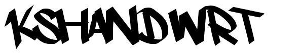 Kshandwrt 字形