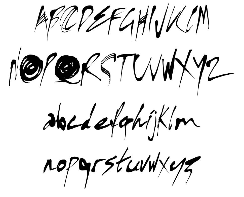 Kylie X font