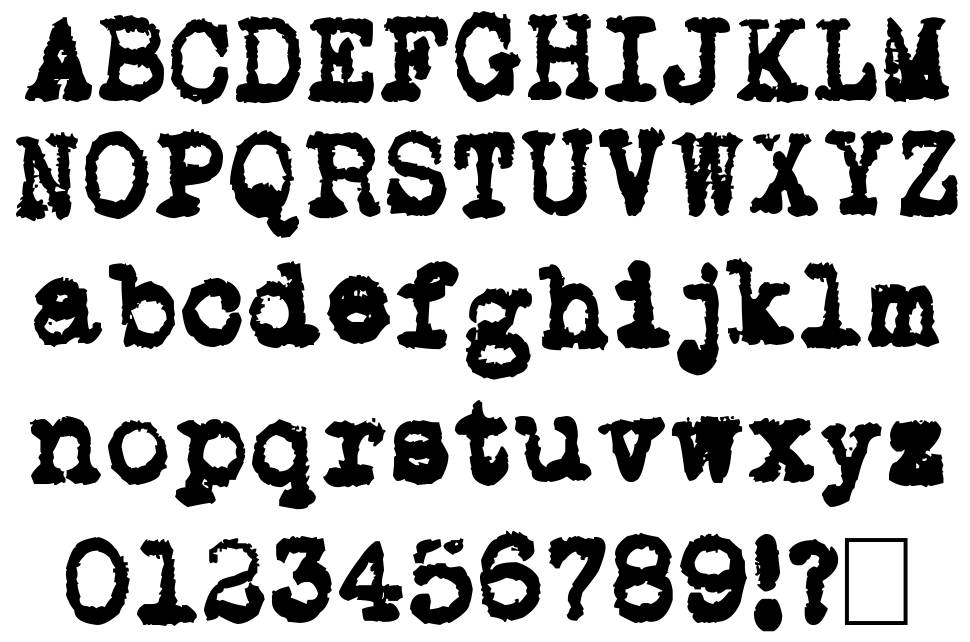 L.C. Smith 5 Typewriter font