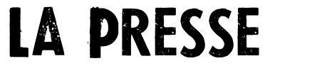 La Presse písmo