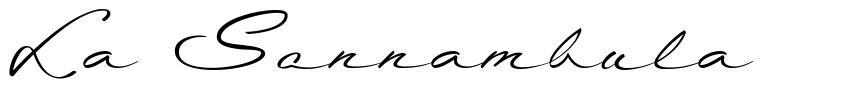 La Sonnambula フォント