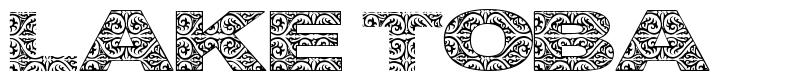 Lake Toba font