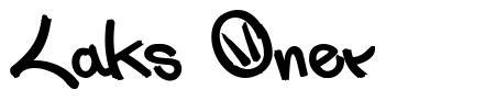 Laks Oner font