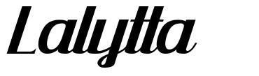 Lalytta font