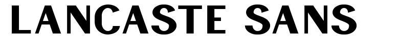 Lancaste Sans font