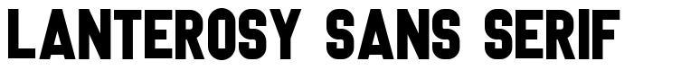 Lanterosy Sans Serif font