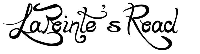 LaPointe's Road 字形
